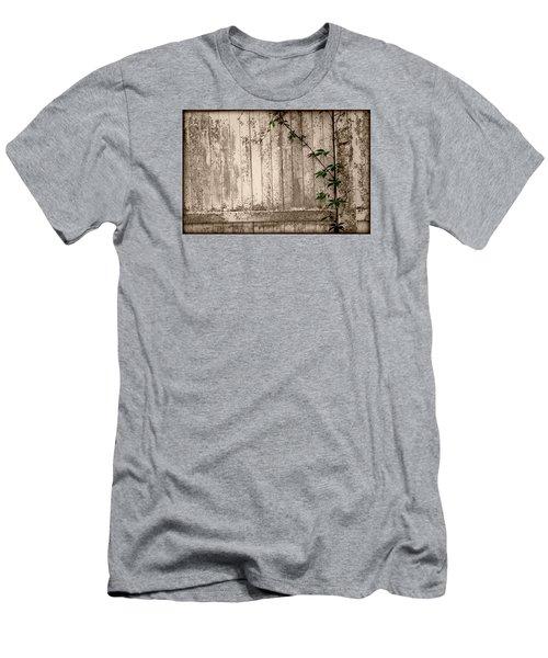 Men's T-Shirt (Slim Fit) featuring the photograph Vine And Fence by Amanda Vouglas