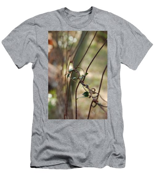 Vine On Rusted Fence Men's T-Shirt (Athletic Fit)