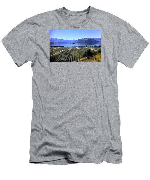 Vineyard View Of Ruby Island Men's T-Shirt (Slim Fit) by Venetia Featherstone-Witty