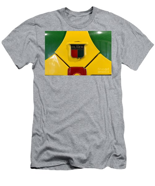 Vintage 1950 Oliver Tractor Emblem Men's T-Shirt (Athletic Fit)