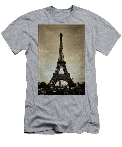 Vintage Eiffel Bronze Men's T-Shirt (Athletic Fit)