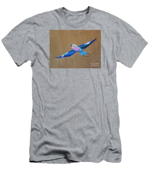 Violet-breasted Roller Bird II Men's T-Shirt (Athletic Fit)