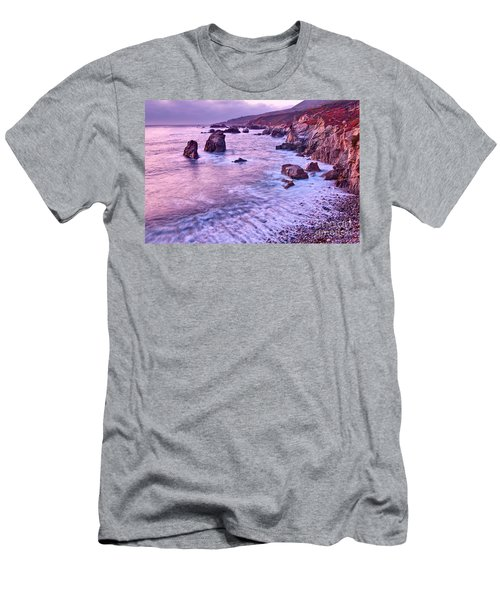 Violet Tides - Rocky Coast From Soberanes Point In Garrapata State  Men's T-Shirt (Athletic Fit)