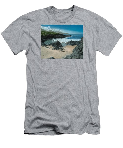 Visitor At Kaena Point Men's T-Shirt (Athletic Fit)