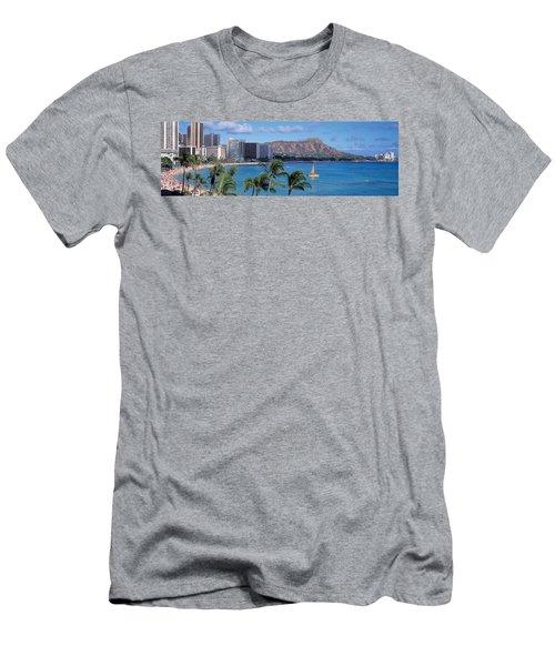 Waikiki Beach, Honolulu, Hawaii, Usa Men's T-Shirt (Athletic Fit)
