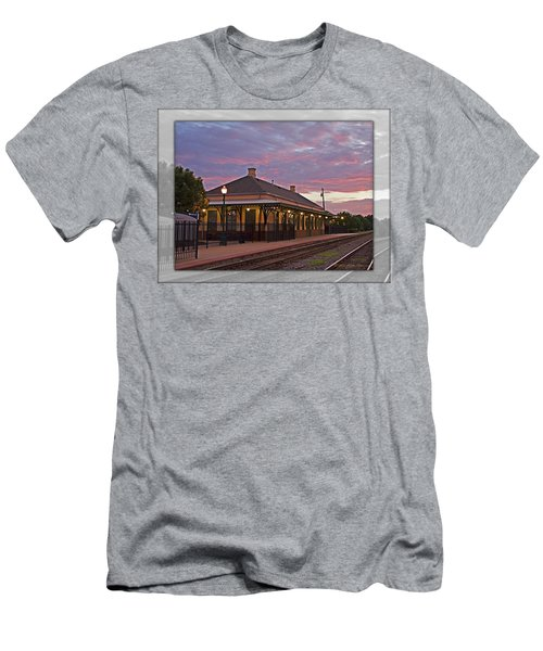 Waiting On The Train Men's T-Shirt (Slim Fit) by Walter Herrit