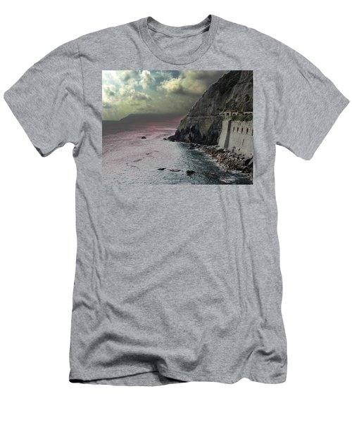 Men's T-Shirt (Slim Fit) featuring the photograph Walk Of Love Riomaggiore by Natalie Ortiz