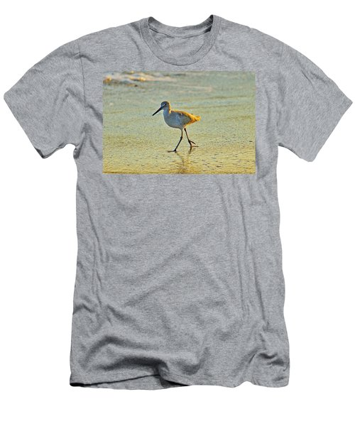 Men's T-Shirt (Slim Fit) featuring the photograph Walk On The Beach by Cynthia Guinn