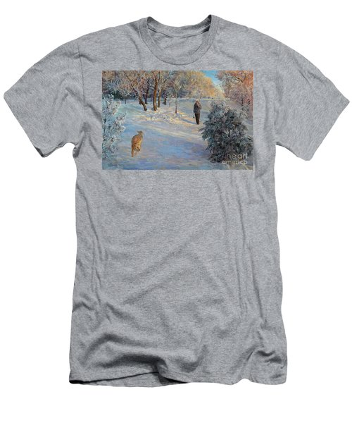 Walking In A Winter Park Men's T-Shirt (Athletic Fit)
