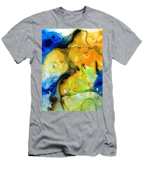 Walking On Sunshine - Abstract Painting By Sharon Cummings Men's T-Shirt (Athletic Fit)