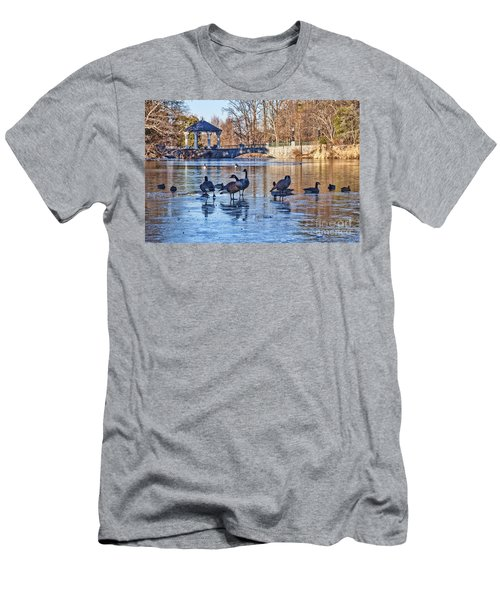 Walking On Thin Ice Men's T-Shirt (Athletic Fit)