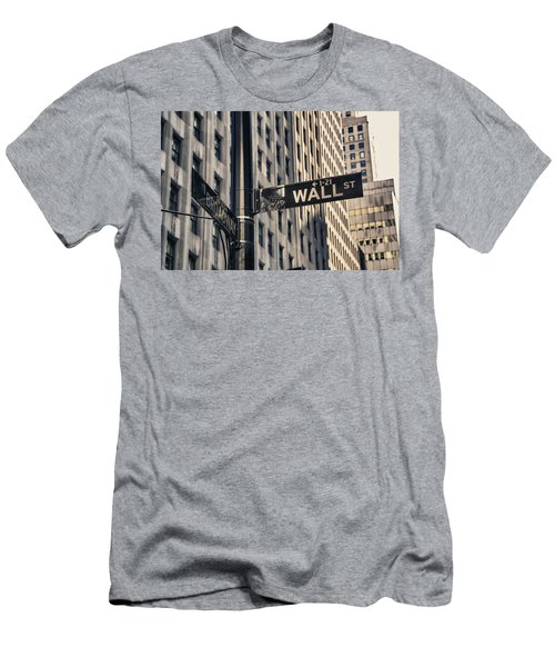 Wall Street Sign Men's T-Shirt (Athletic Fit)