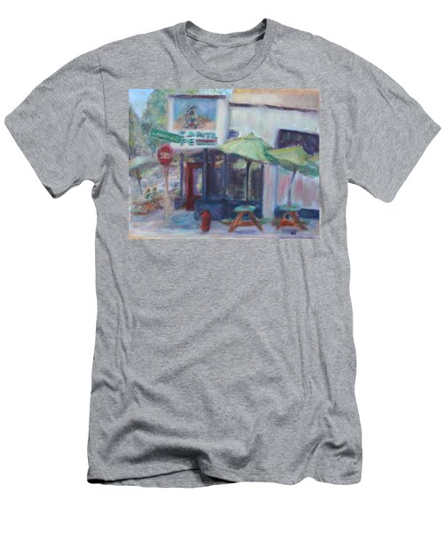 Warm Afternoon In The City  Men's T-Shirt (Athletic Fit)