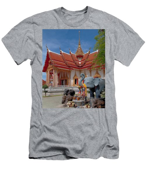 Wat Chalong Wiharn And Elephant Tribute Dthp045 Men's T-Shirt (Athletic Fit)
