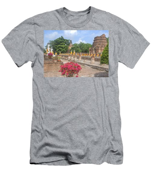 Wat Phra Chao Phya-thai Buddha Images And Ruined Chedi Dtha004 Men's T-Shirt (Athletic Fit)