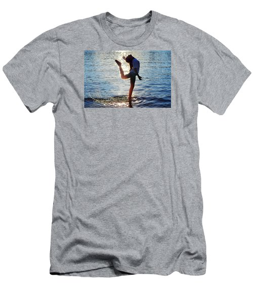 Water Dancer Men's T-Shirt (Slim Fit) by Laura Fasulo