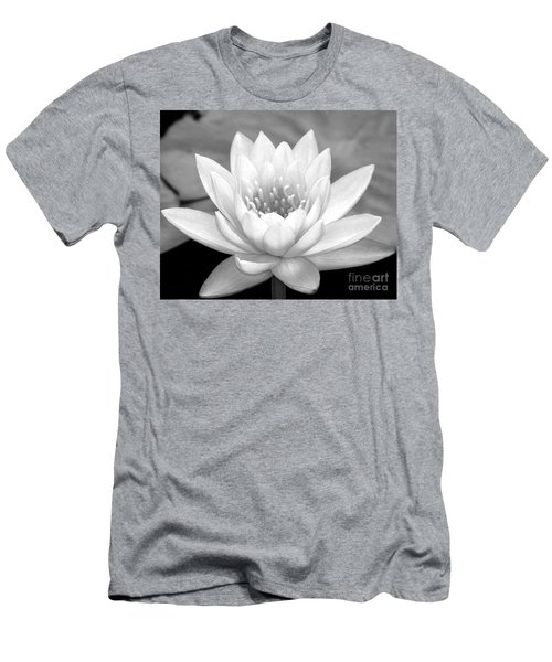 Water Lily In Black And White Men's T-Shirt (Athletic Fit)