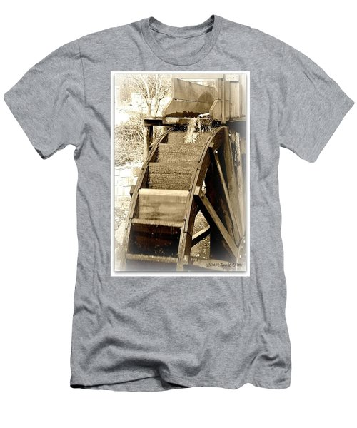 Water Wheel Men's T-Shirt (Slim Fit) by Tara Potts