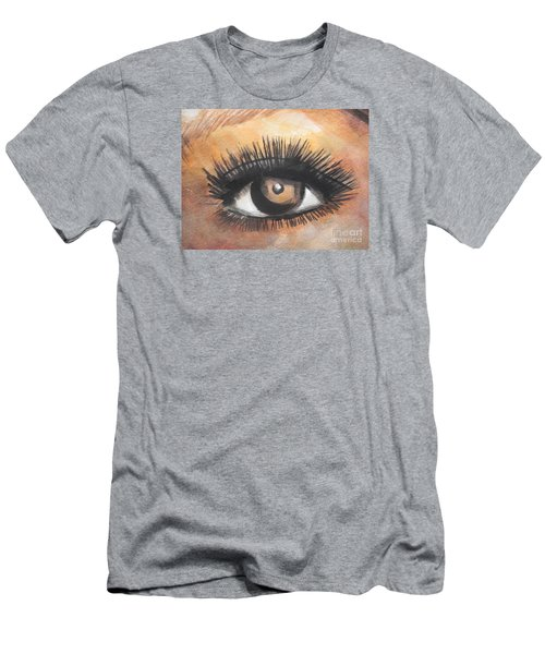 Watercolor Eye Men's T-Shirt (Slim Fit) by Chrisann Ellis