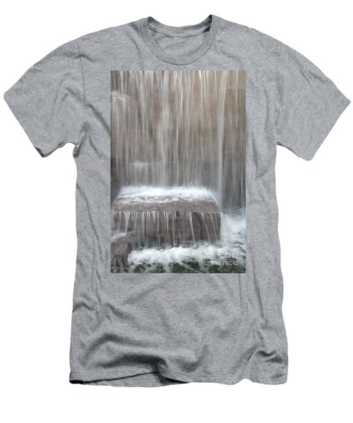 Waterfall At The Fdr Memorial In Washington Dc Men's T-Shirt (Athletic Fit)