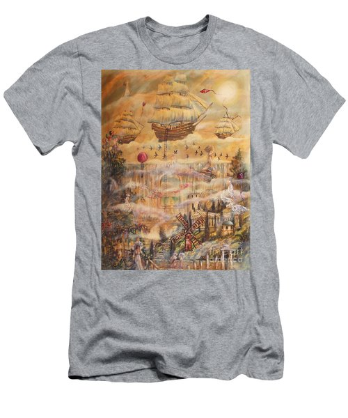 Waterfall Of Prosperity Men's T-Shirt (Athletic Fit)