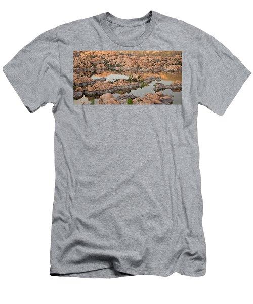 Watson Lake Sunset Men's T-Shirt (Athletic Fit)