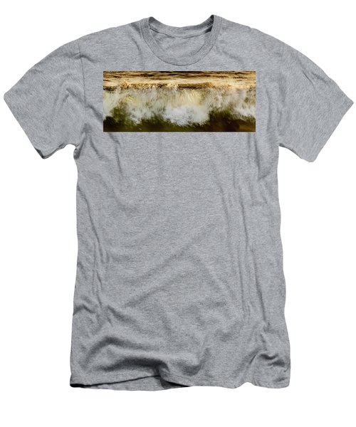 Waves Breaking At The Shore Reflecting Men's T-Shirt (Athletic Fit)