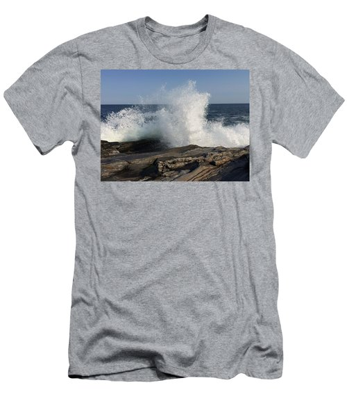 Waves Crashing On Rocky Maine Coast Men's T-Shirt (Athletic Fit)