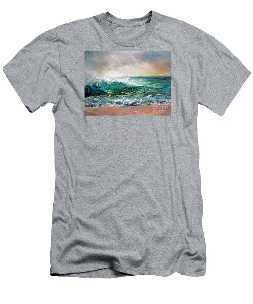 Waves Men's T-Shirt (Slim Fit) by Jieming Wang