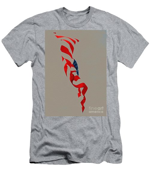 Waving Men's T-Shirt (Athletic Fit)