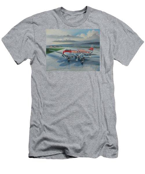 Western Airlines Dc-3 Men's T-Shirt (Slim Fit) by Stuart Swartz