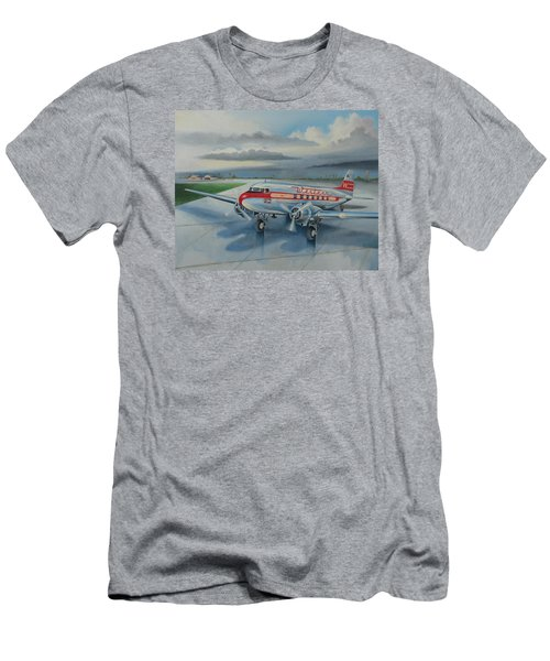 Western Airlines Dc-3 Men's T-Shirt (Athletic Fit)
