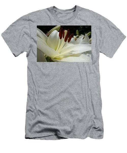 White Asiatic Lily Men's T-Shirt (Athletic Fit)