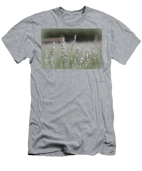Men's T-Shirt (Slim Fit) featuring the photograph White Lavender by Lynn Sprowl