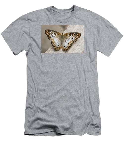 White Peacock Butterfly Men's T-Shirt (Slim Fit) by Judy Whitton