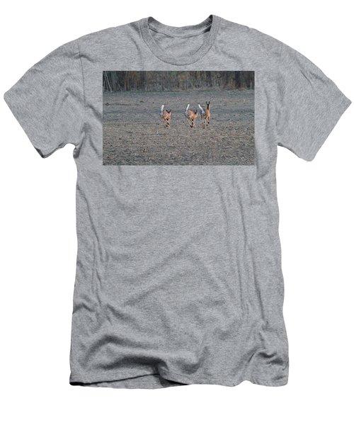 White Tailed Deer Running Men's T-Shirt (Athletic Fit)