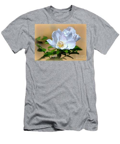 White Tea Rose Men's T-Shirt (Athletic Fit)
