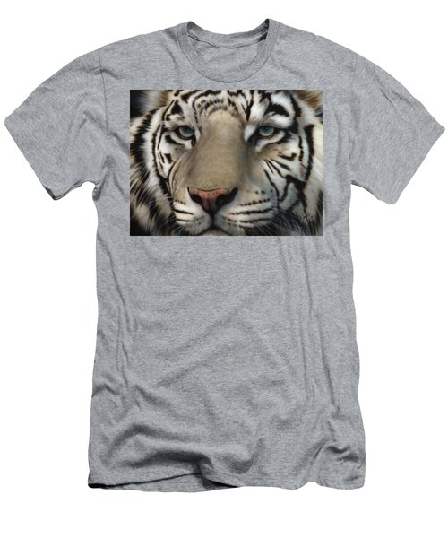 White Tiger - Up Close And Personal Men's T-Shirt (Athletic Fit)