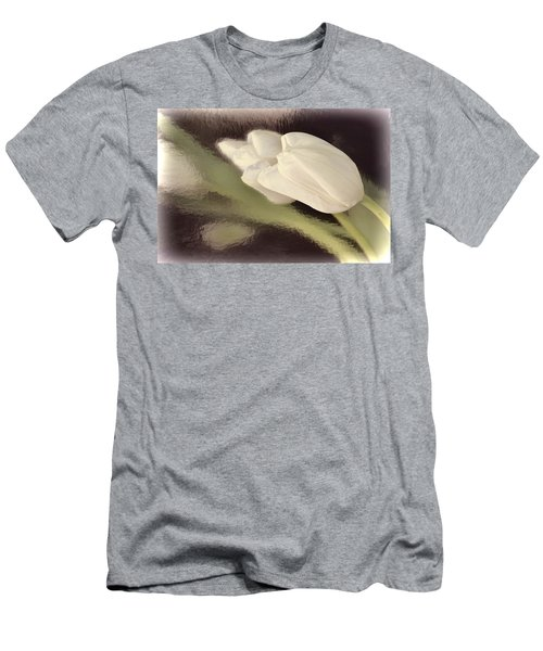 White Tulip Reflected In Misty Water Men's T-Shirt (Athletic Fit)