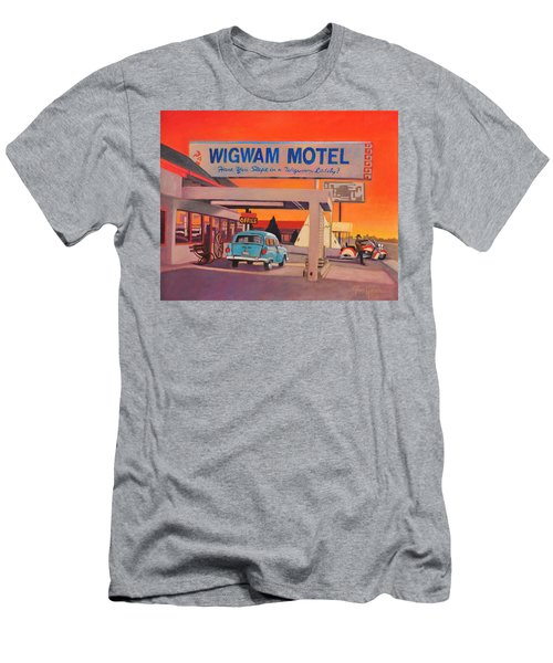 Men's T-Shirt (Slim Fit) featuring the painting Wigwam Motel by Art James West