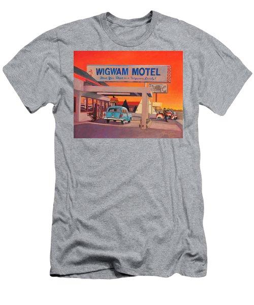 Wigwam Motel Men's T-Shirt (Slim Fit)
