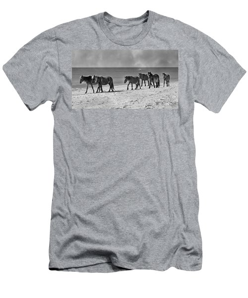 Wild Mustangs Of Shackleford Men's T-Shirt (Athletic Fit)