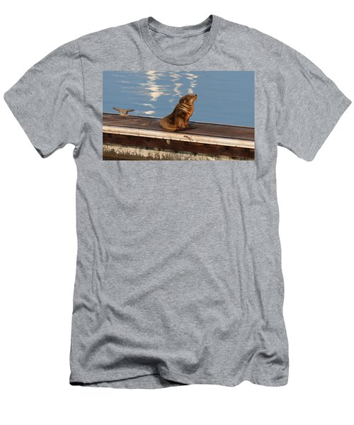 Wild Pup Sun Bathing Men's T-Shirt (Athletic Fit)
