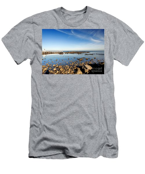 Men's T-Shirt (Slim Fit) featuring the photograph Williamstown Beach by Yew Kwang