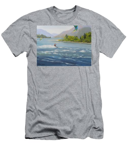Men's T-Shirt (Slim Fit) featuring the painting Wind And Water by Karen Ilari