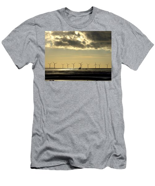 Wind Farm At Sunset Men's T-Shirt (Athletic Fit)