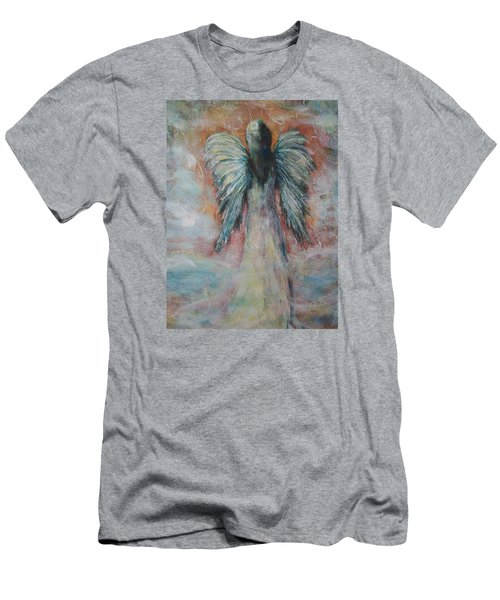 Wind In My Wings, Angel Men's T-Shirt (Athletic Fit)