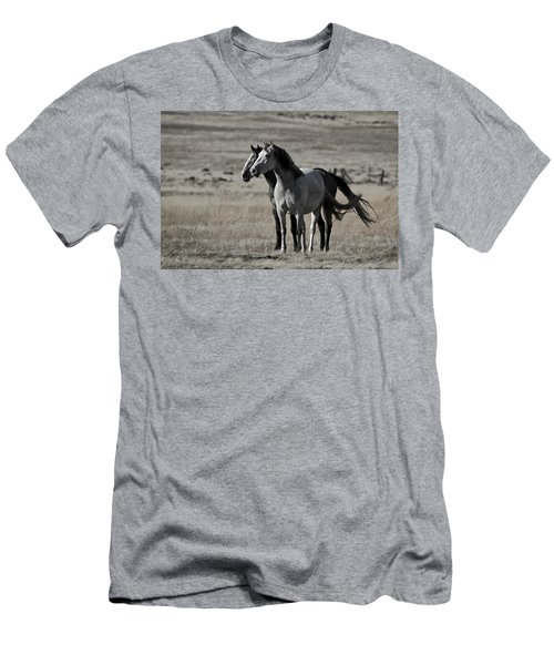Men's T-Shirt (Slim Fit) featuring the photograph Windblown D3560 by Wes and Dotty Weber