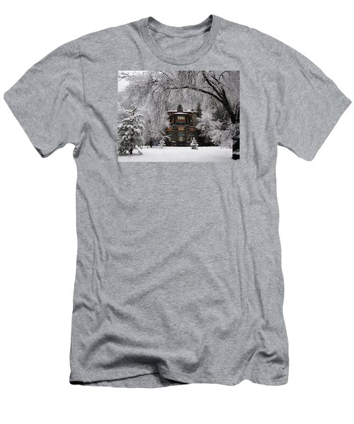 Winter At The Ahwahnee In Yosemite Men's T-Shirt (Slim Fit) by Carla Parris