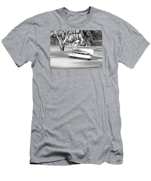 Men's T-Shirt (Slim Fit) featuring the photograph Winter Morning by Susan  Dimitrakopoulos